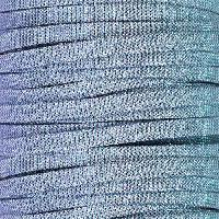 5mm Flat Iridescent Fabric Cord - Periwinkle