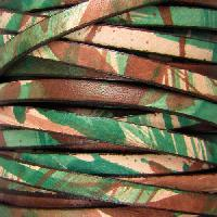 5mm Flat Leather Cord per 5 Meters - Camouflage