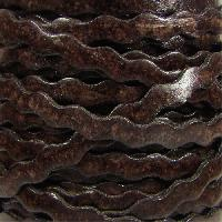 Ric Rac 5mm Flat Leather Cord - Distressed Brown