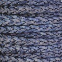 Braided 5mm FLAT Leather Cord - Natural Pacific
