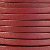 Mexican 5mm Flat Leather Cord - Burgundy