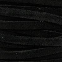 Suede 5mm Flat Cord - Black