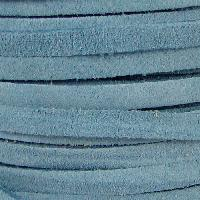 Suede 5mm Flat Cord - Pale Blue