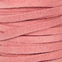 Suede 5mm Flat Cord - Pink