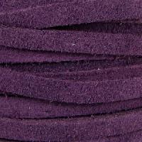 Suede 5mm Flat Cord - Purple - per inch