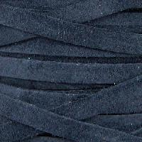 Suede 5mm Flat Cord - Navy