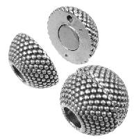 5mm Small Dots Sphere Round Leather Cord Magnetic Clasp - Antique Silver