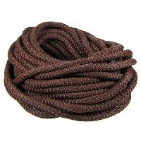 Nylon 5mm Round Cord - Brown - per inch