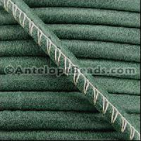 Arizona 5mm ROUND Stitched Leather Cord - Forest Green