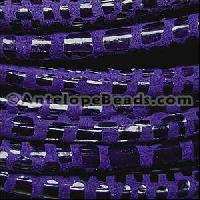 Cancun 5mm ROUND Leather Cord - Purple - per inch