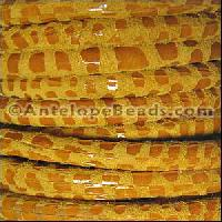 Cancun 5mm ROUND Leather Cord - Mustard - per inch