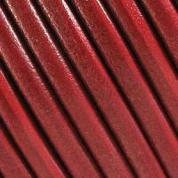 Lux 5mm Round Leather Cord - Distressed Red - per inch
