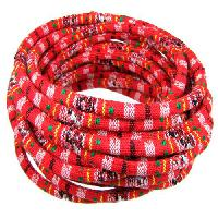 Cotton 6mm ROUND Cord - Bright Red - per inch
