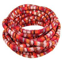 Cotton 6mm ROUND Cord - Red / Brown