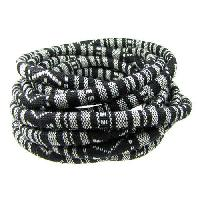 Cotton 6mm ROUND Cord - Black / White