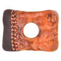 Urban Raku Bracelet Bar Squared with Swarovski Crystals - Tangerine Wash