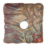 Urban Raku Pendant Square 2 inch (Reserve Collection) - Multi Satin