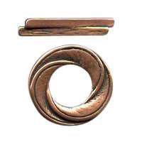 B&B Benbassat Round Swirl Toggle Clasp - Antique Copper