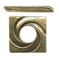 B&B Benbassat Square Swirl Toggle Clasp - Antique Brass
