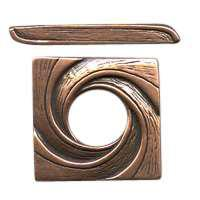 B&B Benbassat Square Swirl Toggle Clasp - Antique Copper
