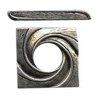 B&B Benbassat Square Swirl Toggle Clasp - Antique Silver