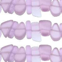 Cultured Sea Glass Bead Pebble 15x10mm - Periwinkle