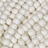 Carabao Bone Bead White Round 6mm