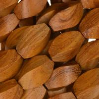 Bayong Wood Bead Twist 8x15mm