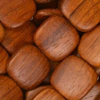 Bayong Wood Bead Flat Square 16mm