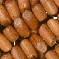 Bayong Wood Bead Tube Side Cut 8x15mm