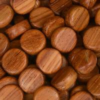 Bayong Wood Bead Coin 10x5mm