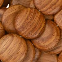 Bayong Wood Bead Coin 20mm