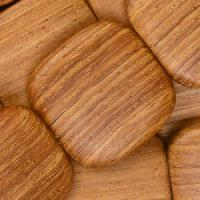 Bayong Wood Bead Flat Square 25mm