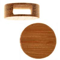 Bayong Wood Slide Large Hole Round Flat 20mm - piece