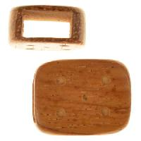 Bayong Wood Slide Large Hole Rectangle Dots 16x20mm - piece