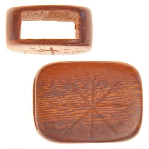 10mm Wood Wide Sliders For Flat Regaliz