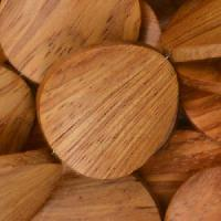 Bayong Wood Bead Coin Twisted 25mm