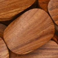 Bayong Wood Bead Twisted Oval 25x35mm