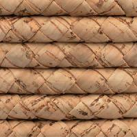 Portuguese Braided 10mm ROUND Cork Cord - Natural