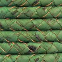 Portuguese Braided 10mm ROUND Cork Cord - Grass Green