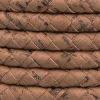 Portuguese Braided 10mm ROUND Cork Cord - Saddle Brown
