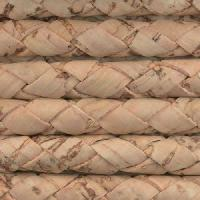 Portuguese Braided 6mm Round Cork Cord - Natural