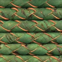Portuguese Braided 6mm Round Cork Cord - Grass Green