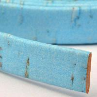 Portuguese 10mm FLAT Cork Cord - Baby Blue