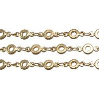 Chain Bubbles 4mm - Matte Gold