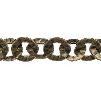 Hammered Washer Chain - Antique Brass