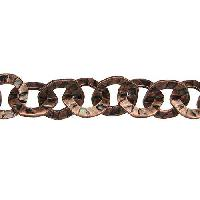 Hammered Washer Chain - Antique Copper - per foot