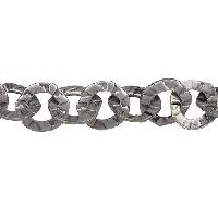 Hammered Washer Chain - Antique Silver - per foot