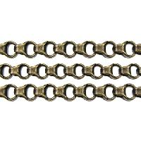Chain Rolo Box Link 4mm - Antique Brass - per foot