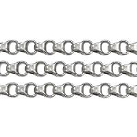Chain Rolo Box Link 4mm - Antique Silver